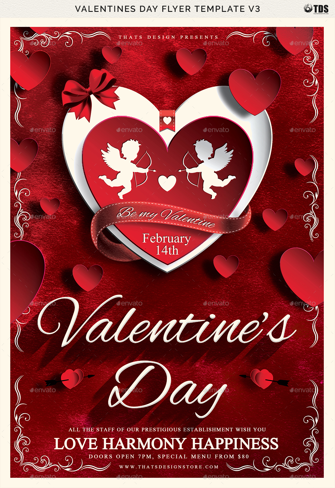 Valentines Day Flyer Template V3 by lou606 | GraphicRiver