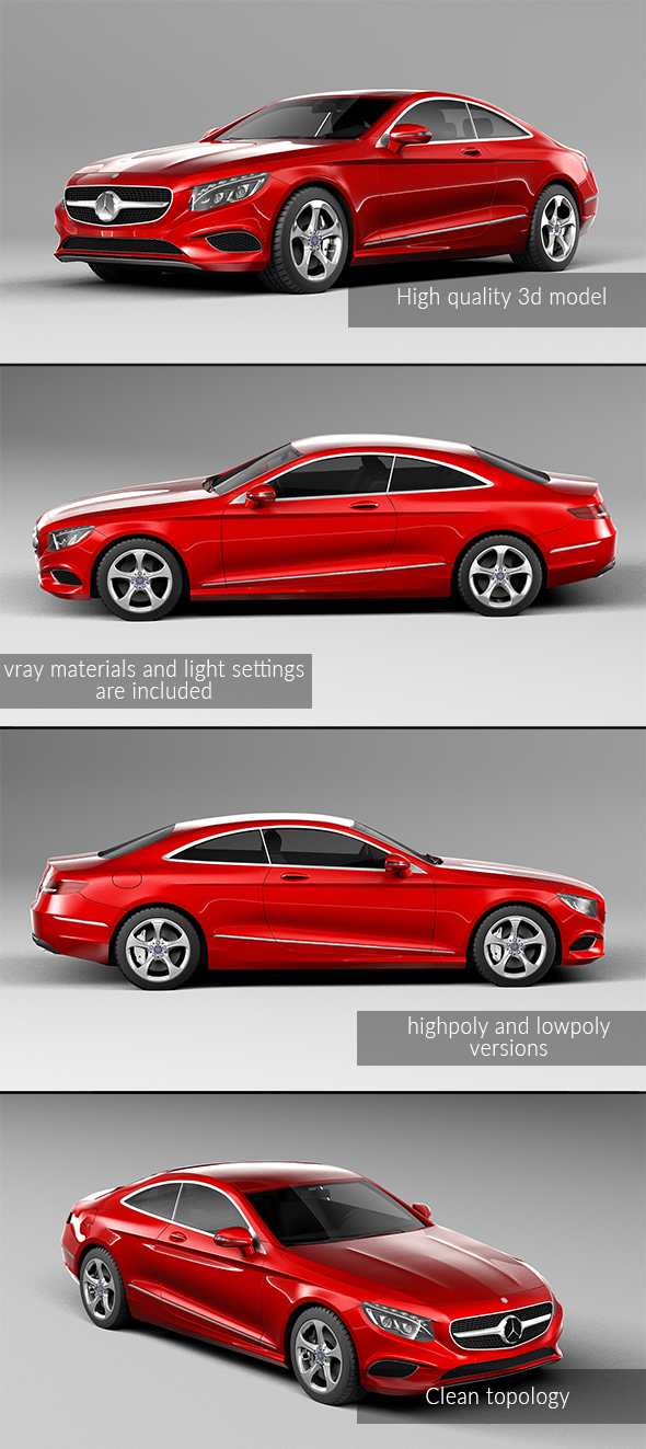 3DOcean Mercedes Benz S Class Coupe 2015 20776589