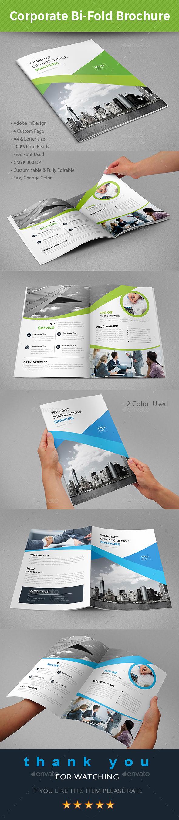 Corporate Bi-Fold Brochure - Brochures Print Templates