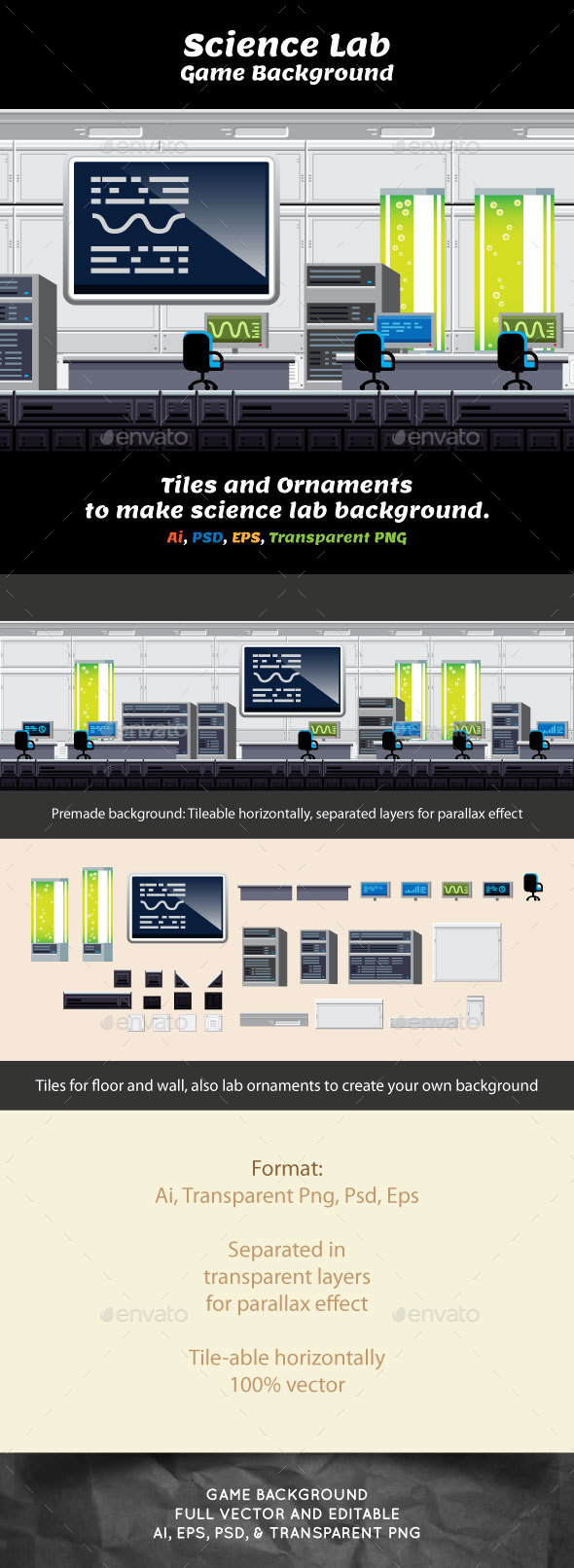 GraphicRiver Indoor Game Backround Science Laboratory 20776795