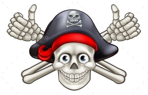 GraphicRiver Skull and Crossbones Pirate Cartoon 20776831