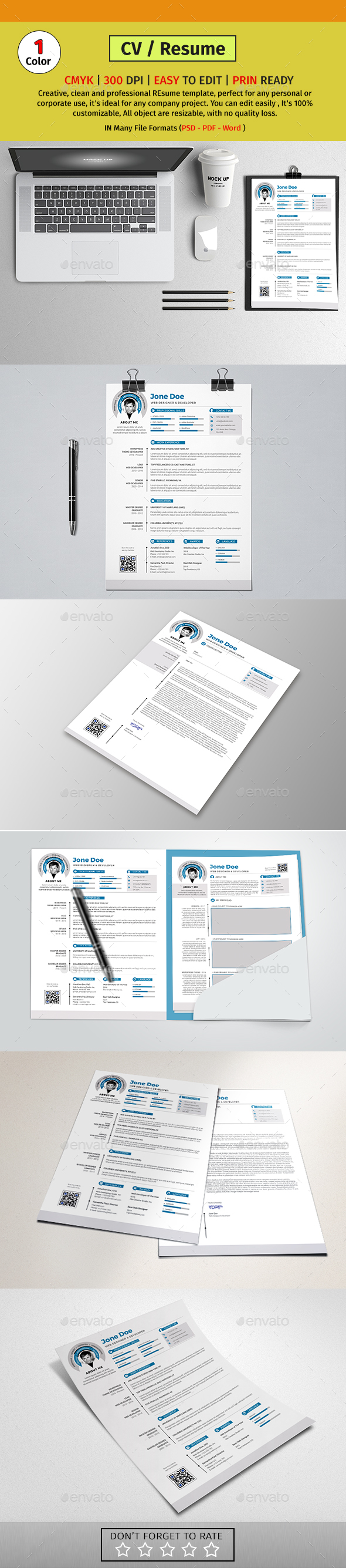 A4 Resume/CV #08 - Resumes Stationery