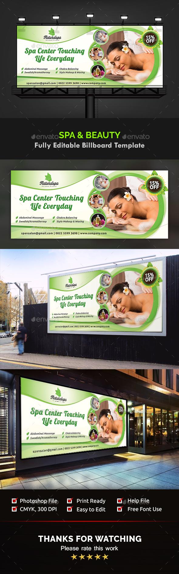 GraphicRiver Spa & Beauty Billboard Templates 20777085