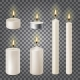 3d Set Realistic Paraffin Candles Isolated - GraphicRiver Item for Sale
