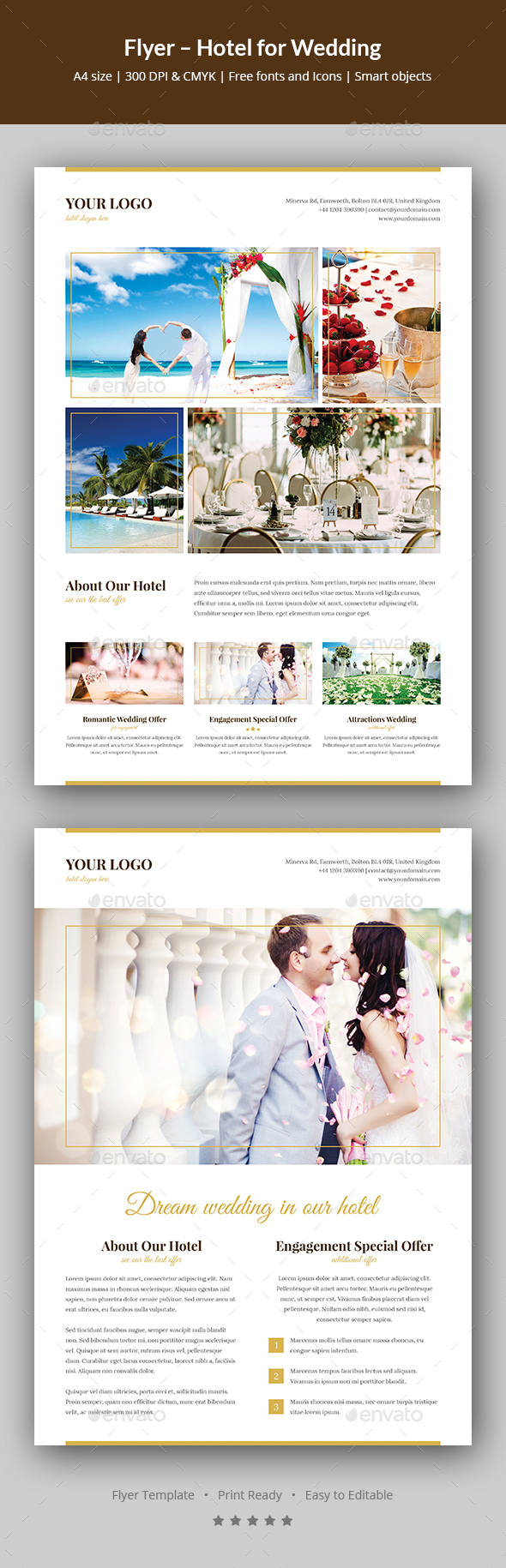 GraphicRiver Flyer Hotel for Wedding 20777127