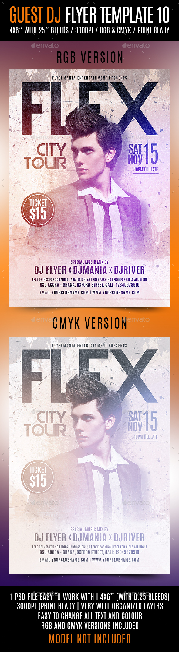 GraphicRiver Guest DJ Flyer Template 10 20777177