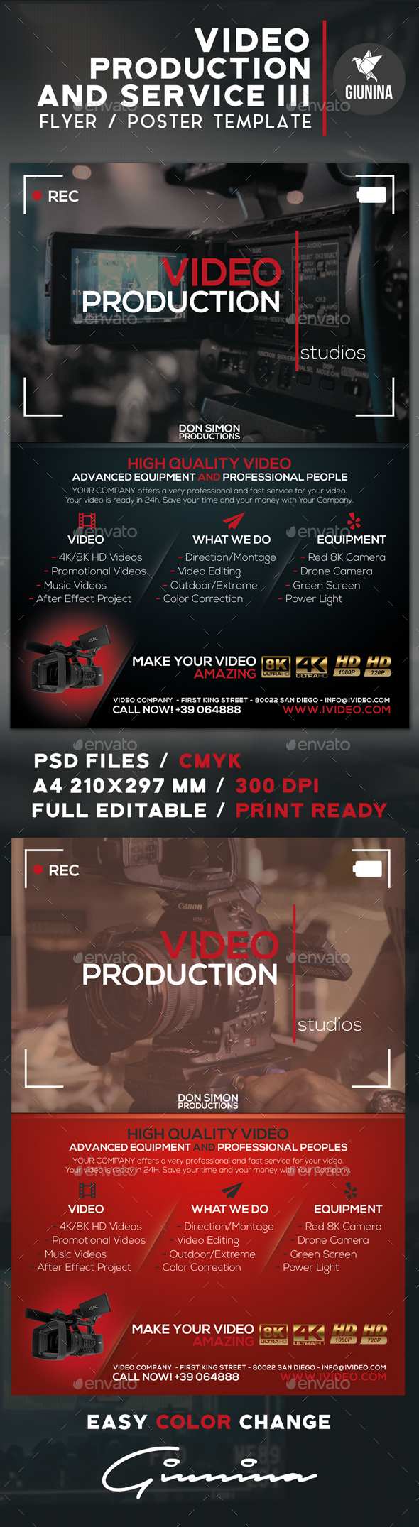Video Production And Services 3 Flyer/Poster - Commerce Flyers