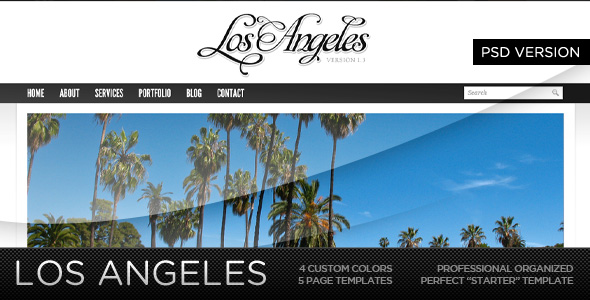 Free Download Los Angeles - A Premium PSD Template Nulled Latest Version