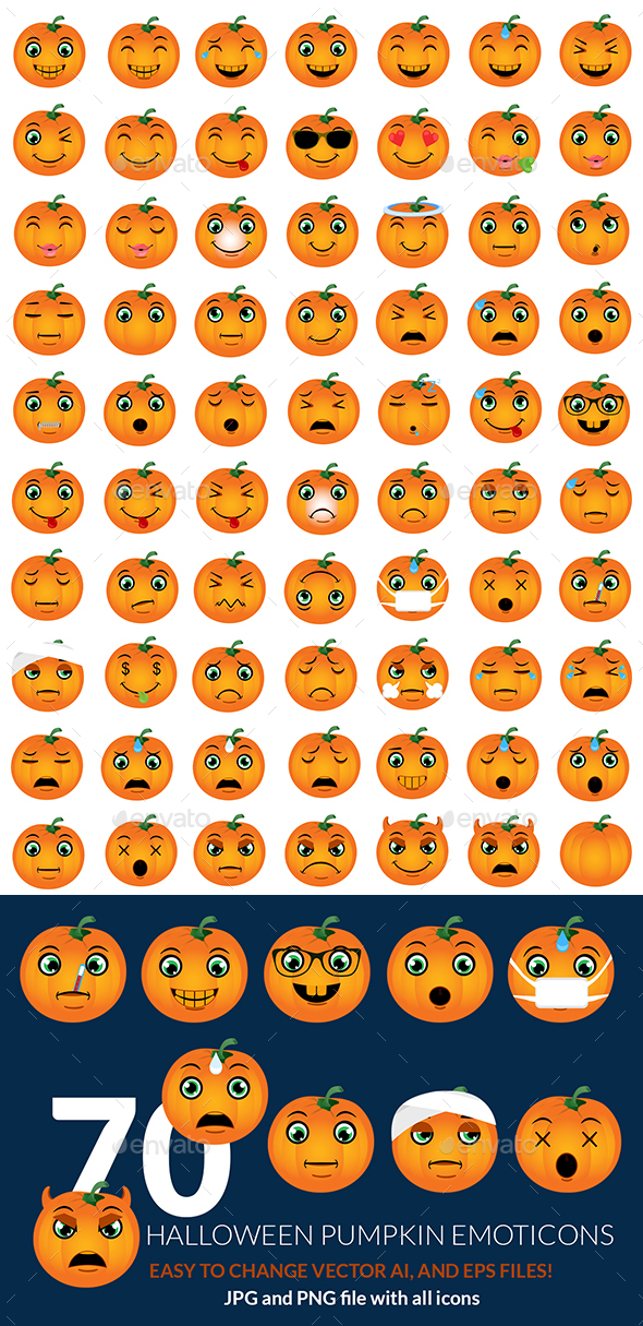 Halloween Pumpkin Emoticons - Miscellaneous Characters