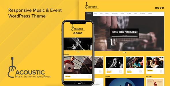 Acoustic - Premium Music WordPress Theme - Music and Bands Entertainment