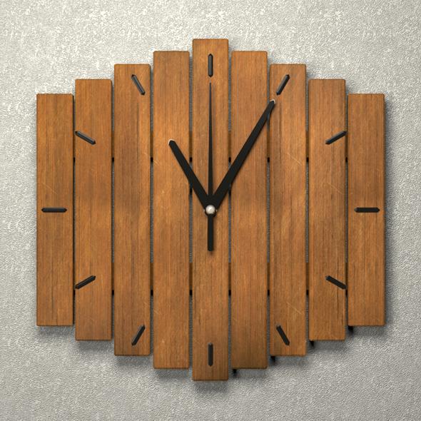 3DOcean Wall wooden clock 20777201