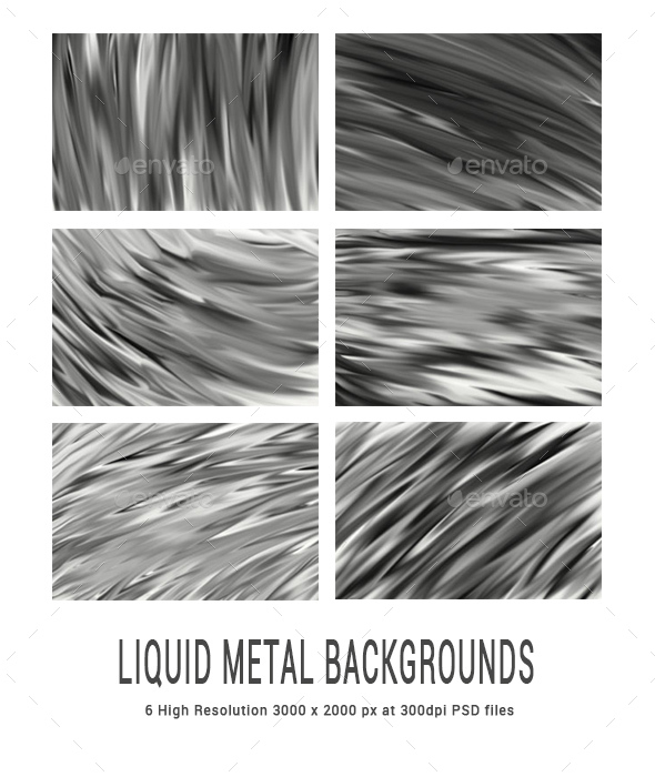 GraphicRiver Black and White Liquid Metal Backgrounds 20777241