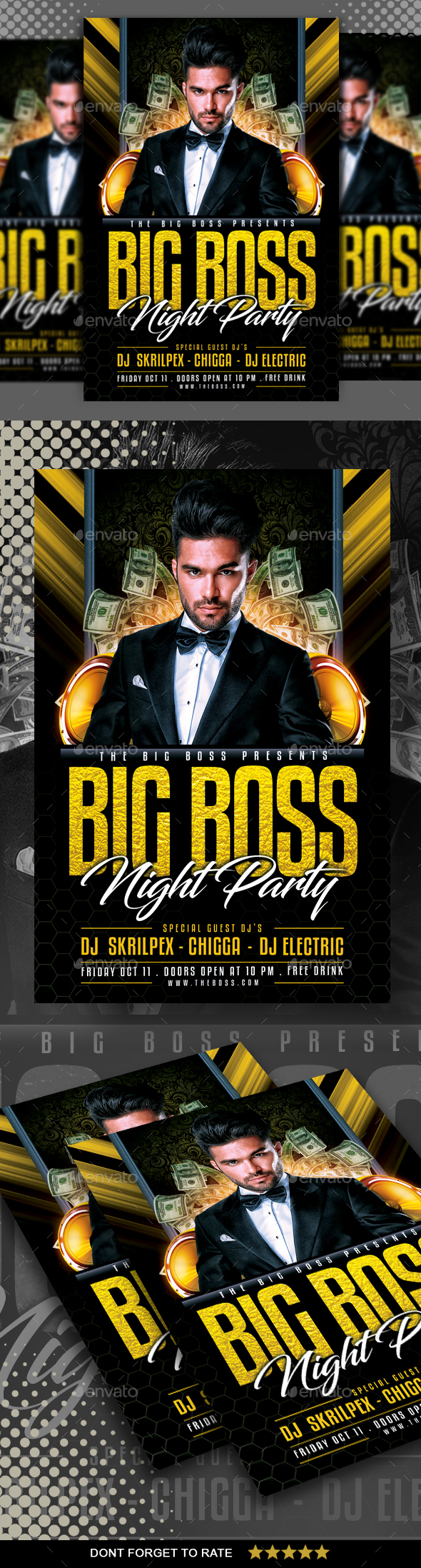GraphicRiver Big Boss Party Flyer 20777260