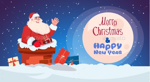 Merry Christmas and Happy New Year Greeting Card - Miscellaneous Seasons/Holidays