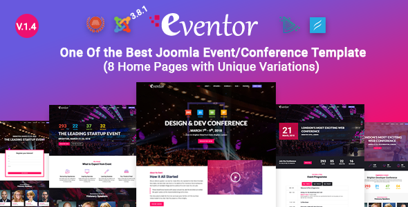 Image of Eventor - Conference & Event Joomla Template