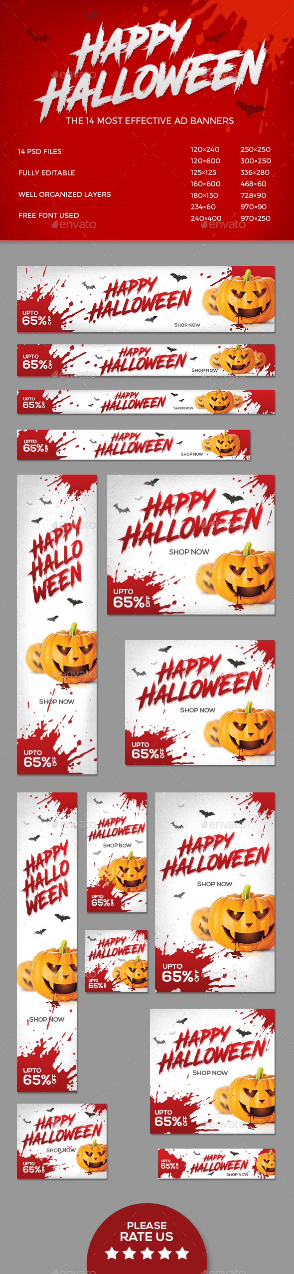 GraphicRiver Halloween Banners 20777561