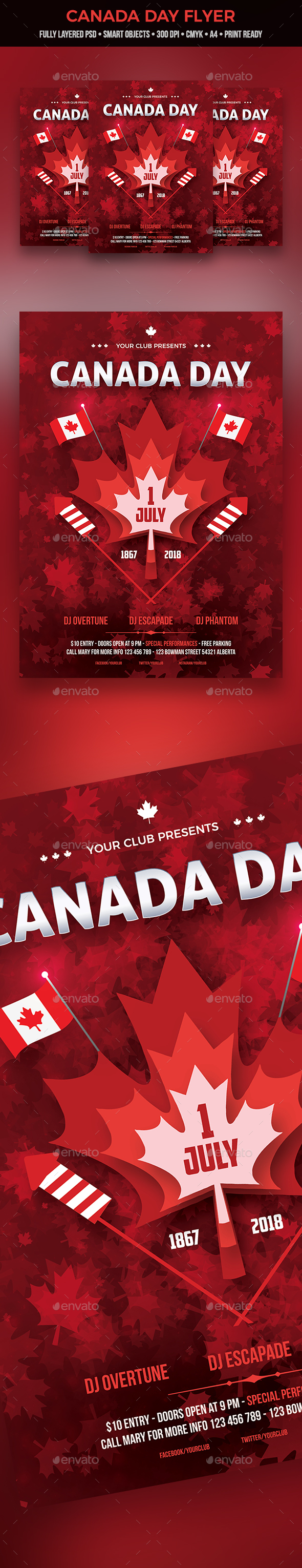 GraphicRiver Canada Day Flyer 20777580