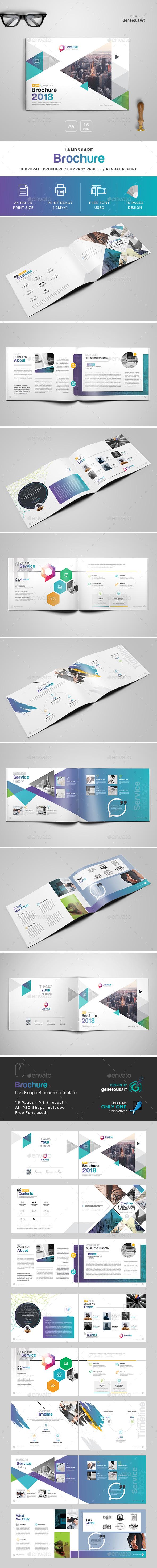 GraphicRiver 2018 Landscape Brochure Template 20777605