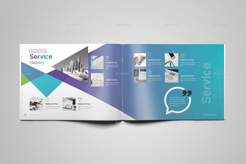 2018 landscape brochure template by generousart graphicriver