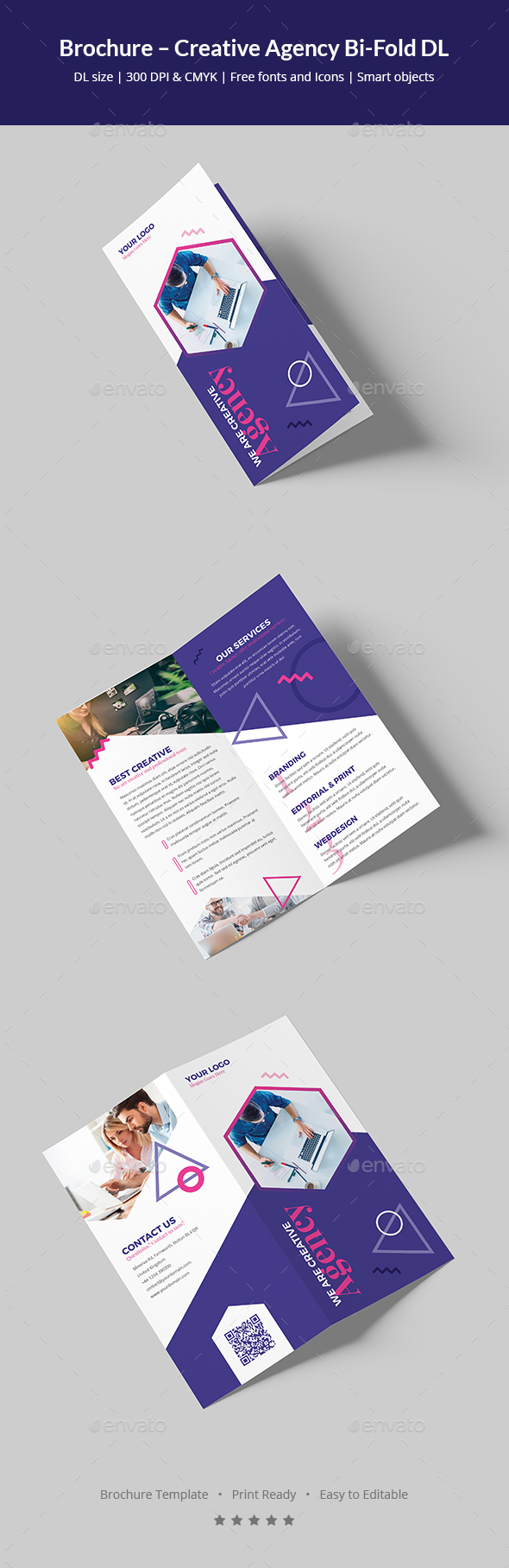 Brochure – Creative Agency Bi-Fold DL
