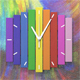 Wooden rainbow clock