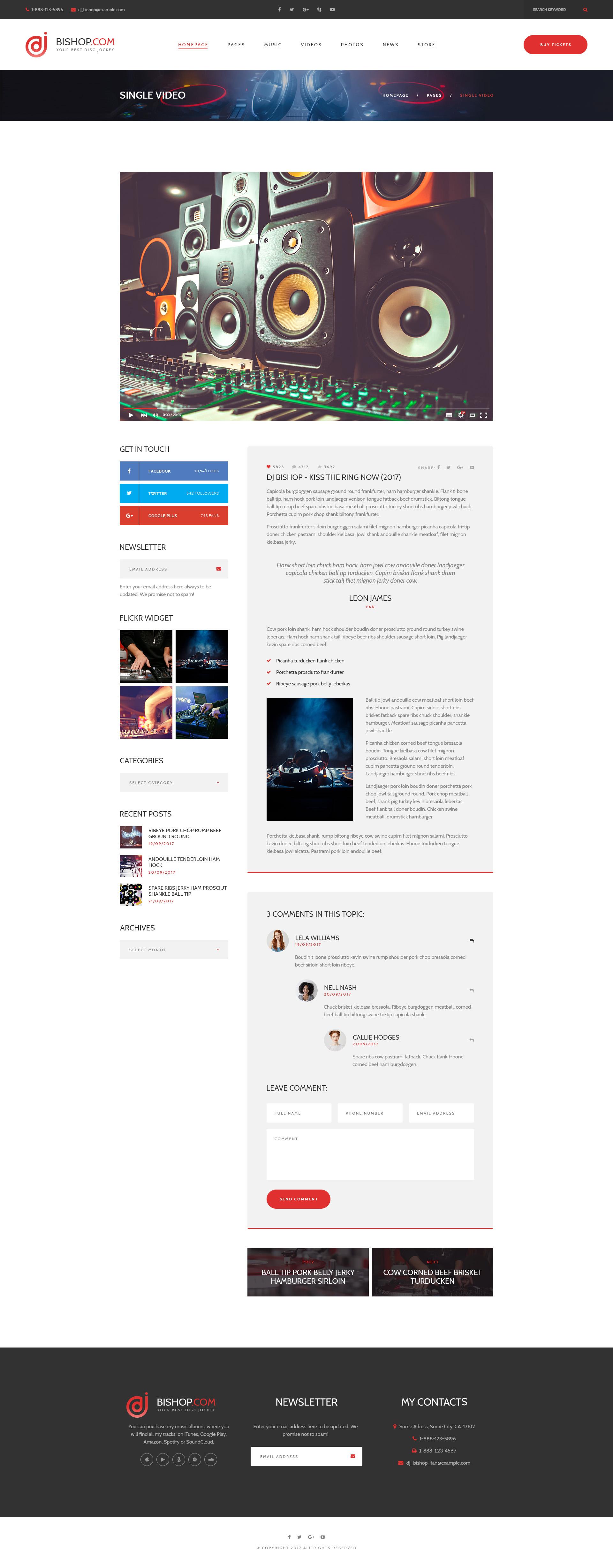 Nett Video Galerie Website Vorlage Bilder - Entry Level Resume ...