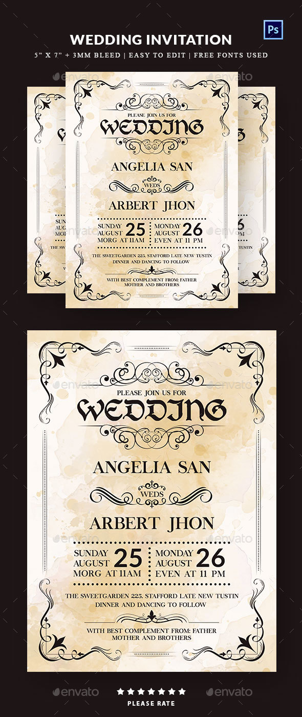 GraphicRiver Wedding Invitation 20777779