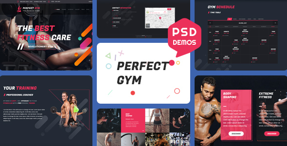 PerfectGym - One Page Psd Template