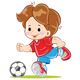 Children's Football Soccer Team
