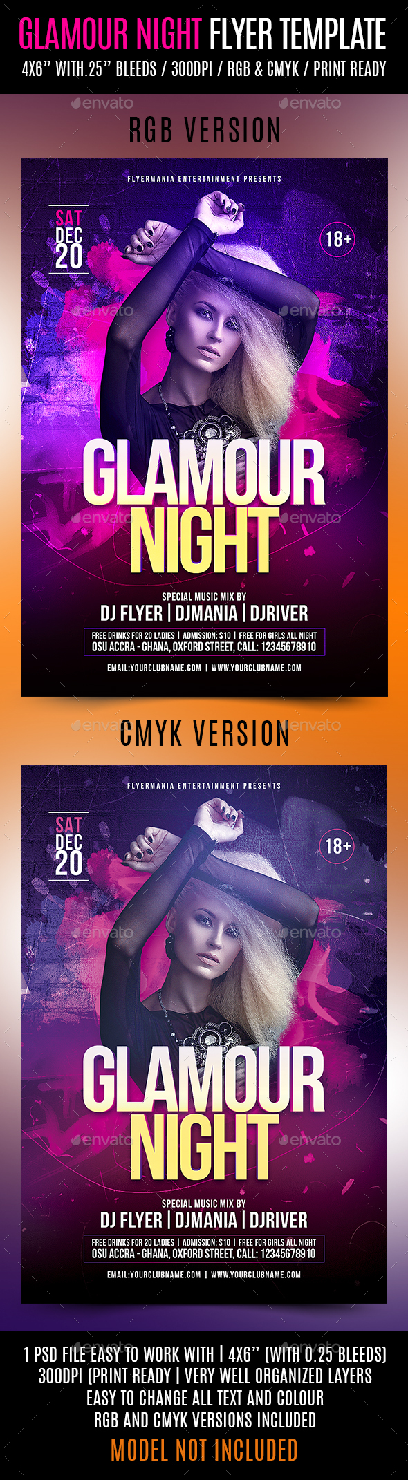 Glamour Night Flyer Template - Events Flyers