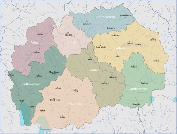 Map of Macedonia - Miscellaneous Vectors