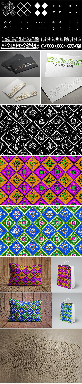 Pattern-Borders-Brushes-01 - Brushes Photoshop