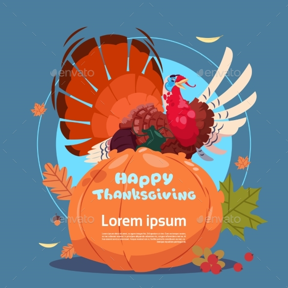 Happy Thanksgiving Day Autumn Traditional Harvest - Miscellaneous Seasons/Holidays