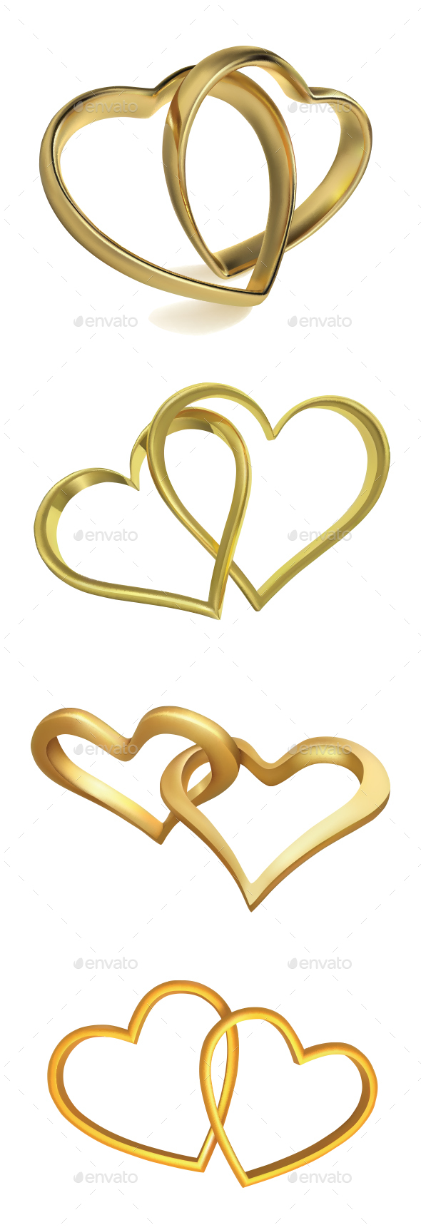 GraphicRiver Heart Shaped Wedding Rings 20778897