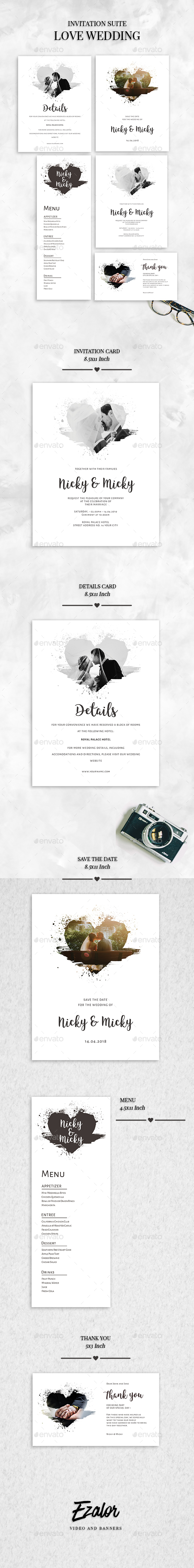 Love Brush Wedding - Weddings Cards & Invites