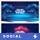 Electronic Music Party vol.35 - Facebook Post Banner Templates - GraphicRiver Item for Sale