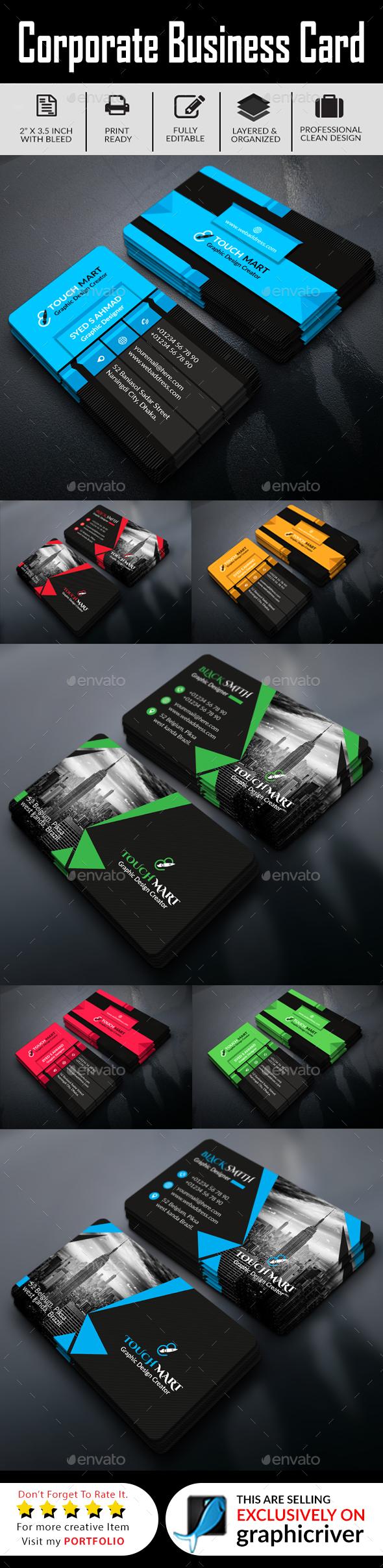 3D Business Card Bundle - Business Cards Print Templates