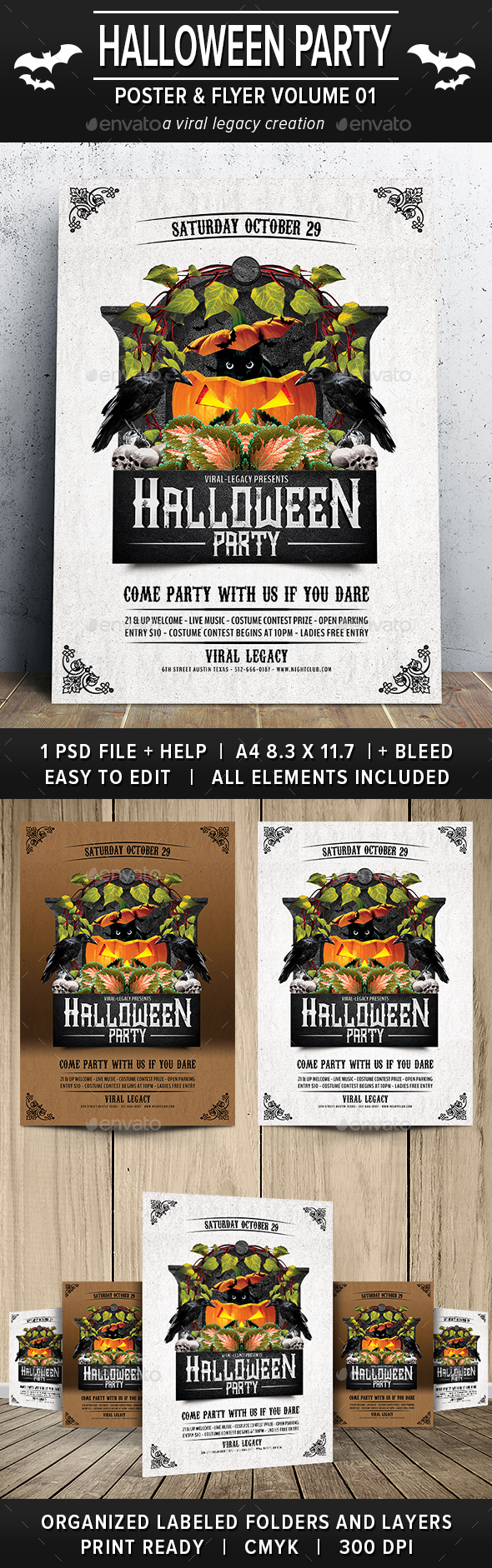 Halloween Party Poster / Flyer V01 - Holidays Events