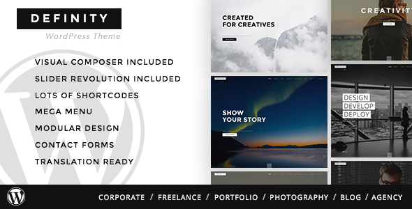 Definity - Creative Multi-Purpose WordPress Theme