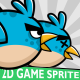 Blue Enemy Bird 2D Game Character Sprite - GraphicRiver Item for Sale