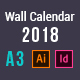 Wall Calendar 2018 - GraphicRiver Item for Sale