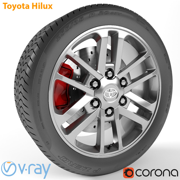 Toyota Hilux Wheel - 3DOcean Item for Sale