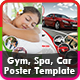 Gym, Spa & Car Poster Templates