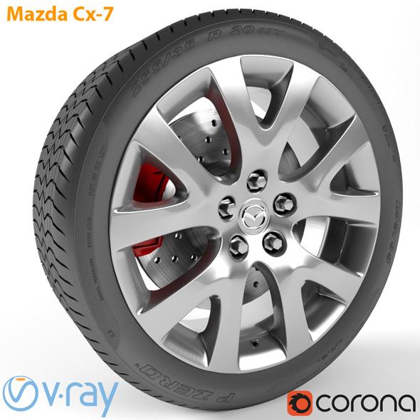 Mazda Cx-7 Wheel - 3DOcean Item for Sale