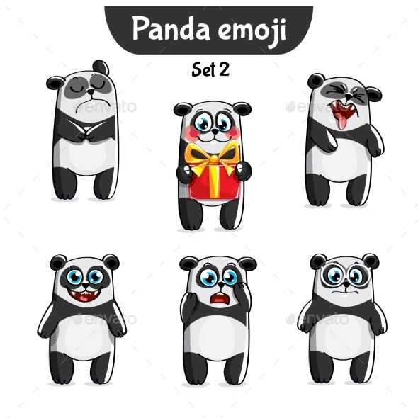GraphicRiver Panda Characters Set 2 20779631