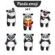 Panda Characters Set 2