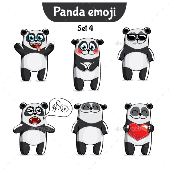 GraphicRiver Panda Characters Set 4 20779635