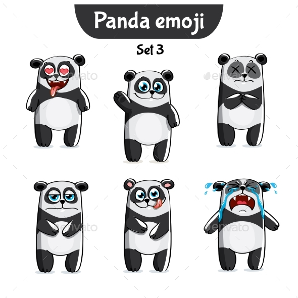 Panda Characters Set 3 - Animals Characters