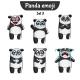 Panda Characters Set 3