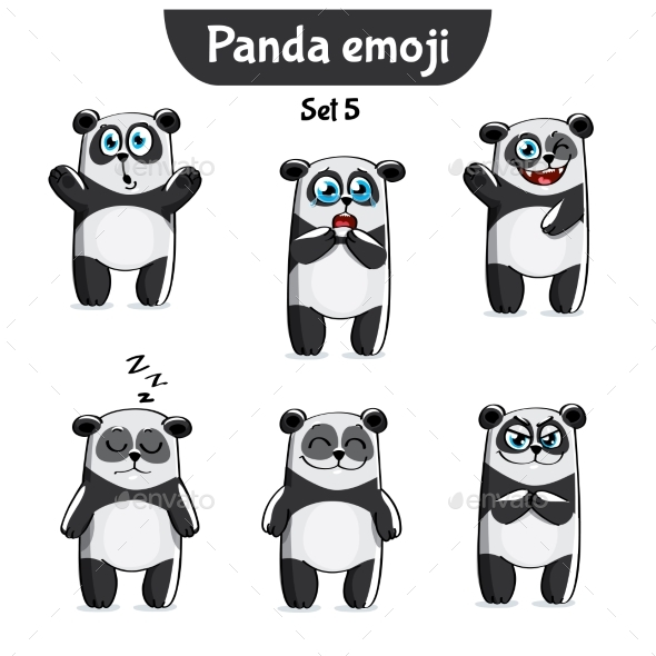 GraphicRiver Panda Characters Set 5 20779641